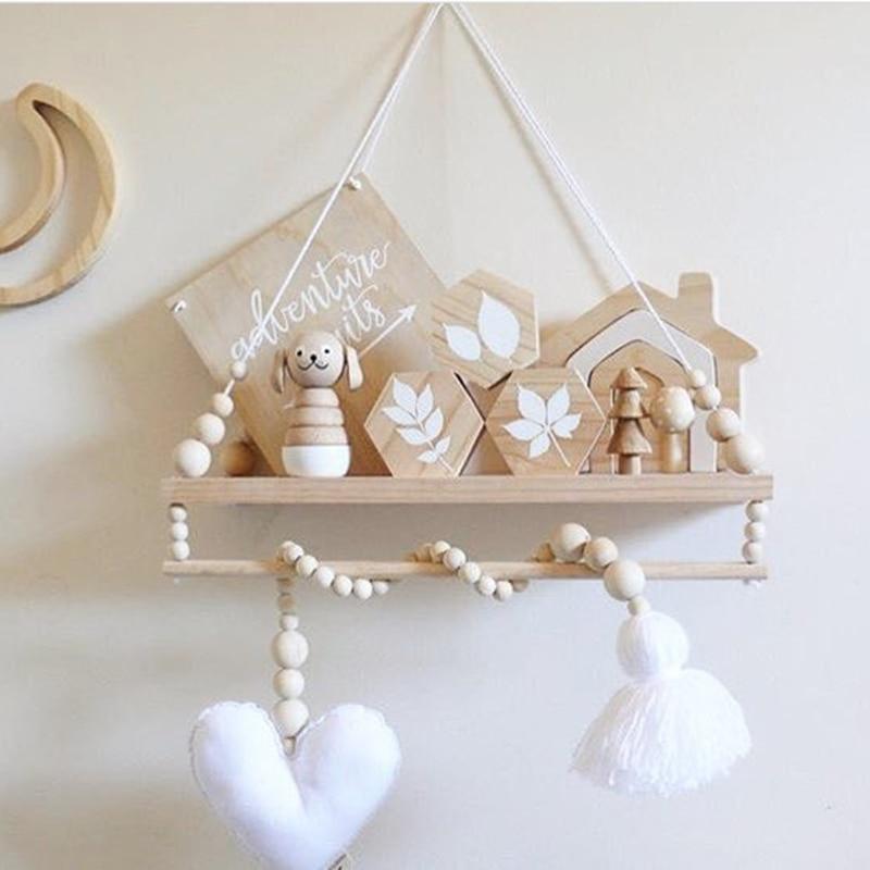 INS, Скандинавская звезда, автомобиль, кисточка, деревянные бусины, украшение для детской комнаты, детская палатка, подвесная подвеска, Настенный декор, реквизит для фотосъемки