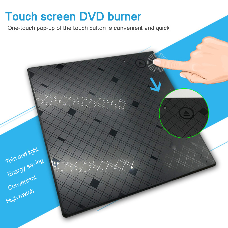 <font><b>USB</b></font> <font><b>3.0</b></font> External <font><b>DVD</b></font> Burner Writer Recorder <font><b>DVD</b></font> RW Optical <font><b>Drive</b></font> CD/<font><b>DVD</b></font> ROM Player MAC OS Windows XP/7/8/10 ABS Plastic Material image