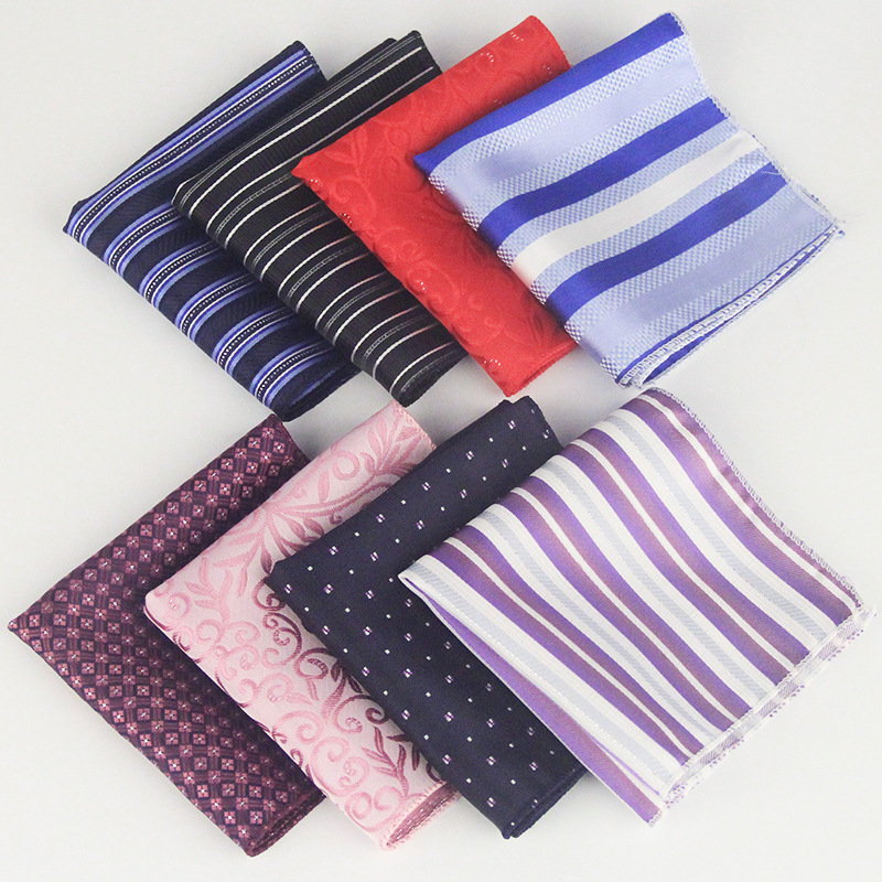 Men's Suit Shirt Pocket Towel Wedding Banquet Business Executive Polyester Silk Small Square Scarf Factory Wholesale
