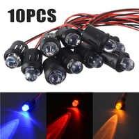 10 stücke 12 V 10mm Pre-Wired Konstante Led-lampen Ultra Helle Wasser Transparent Lampe Blau/Rot /weiß/Gelb