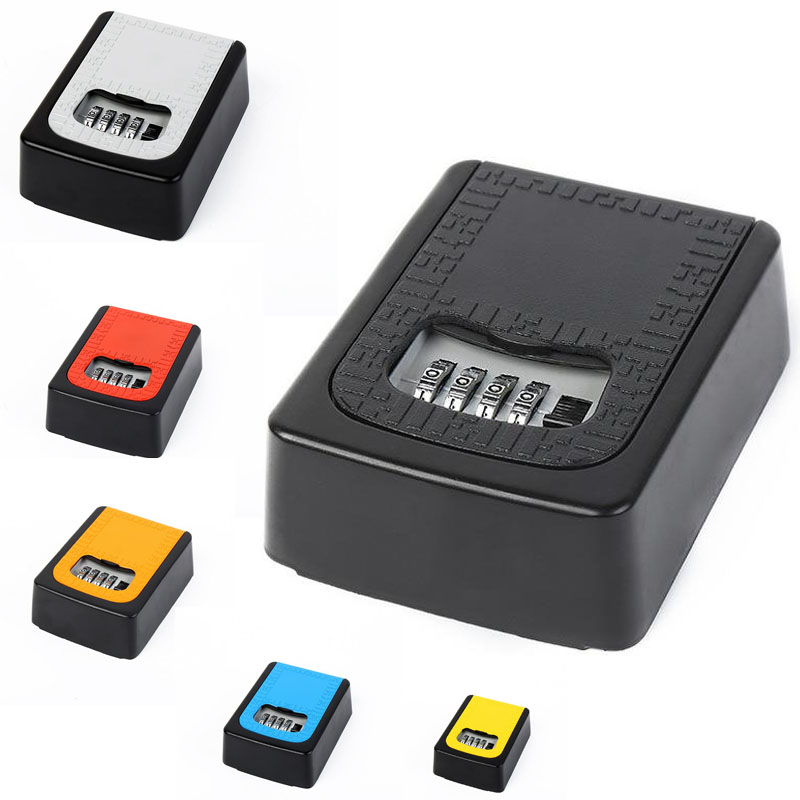 Password Key Box Security Storage Manager Box 4 Digit Password Metal Secret Manager Box Home Office Key Hidden Security DHZ021