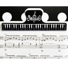 15 см пластиковые фиксированные зажимы для музыкальных очков, бумажный держатель для книги, для гитары, скрипки, пианино, проигрыватель, офисные зажимы для файлов, офисные аксессуары для фортепиано