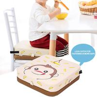 Dining Chair Heightening Cushion For Kids Anti Skid Waterproof Chair Cushion With Adjustable Height Waterproof Stain Resistant