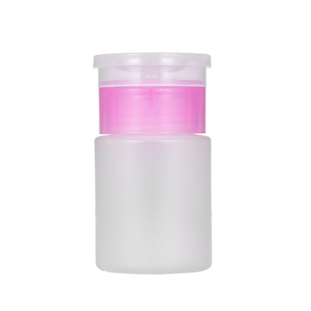 60ml Empty Plastic Bottle Pump Dispenser Portable Bottle for Makeup Remover Nail Polish Remover Cleaner Tool