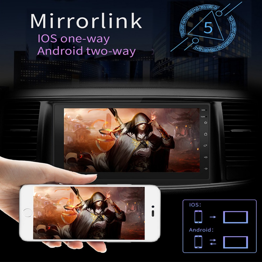 2 Din Car Auto Radio Android 8.1 Reverse Cam Multimedia For Any Cars Dual Ingot Touch Screen Bluetooth 7 inch Car Movie Player image