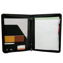 Heißer verkauf Konferenz Ordner Ring Brieftasche PU Leder A4 Halter Für Business Meetings Business
