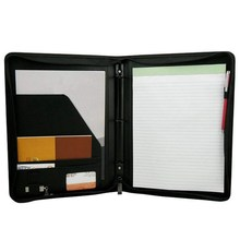 Hot sale Conference Folder Ring Wallet PU Leather A4 Holder For Business Meetings Business