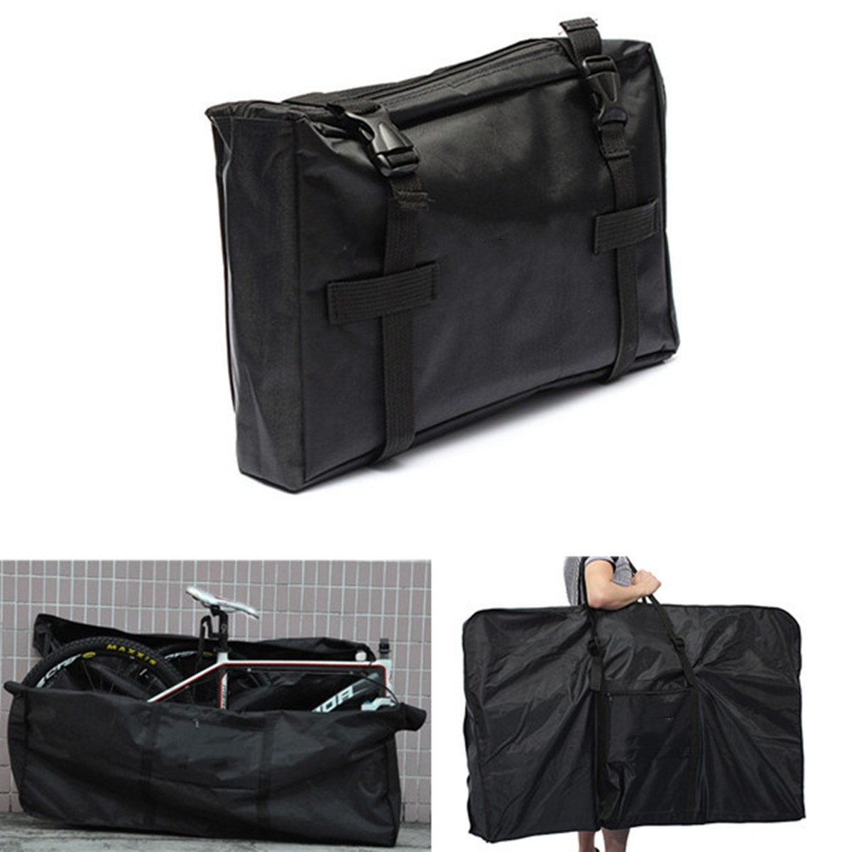 Folding Bike Carrier Carry Packing Storage Bag Foldable Bicycle Loading