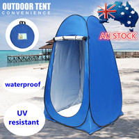 SGODDE Outdoor Tent Portable Pop Up UV Camping Tent Camp Toilet Outdoor Change Bath Room Shelter Ship from CN AU