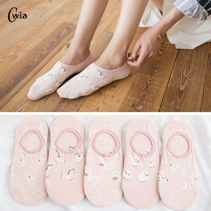 Colorful Fruit Invisible Short Woman Sweat Summer Comfortable Cotton Girl Women's Boat Socks Ankle Low Female 1pair=2pcs XG35