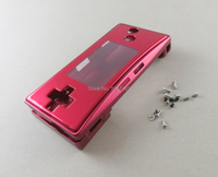 10pcs/lot blue and red color Replacement Housing Shell case for GameBoy Micro GBM Faceplate repair parts