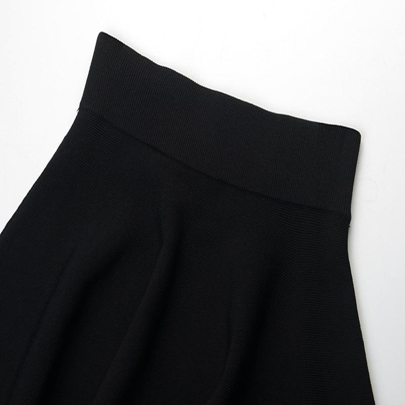 Falda Las Hueco Primavera Pista Casual La Nueva Bikini Mujeres Falda Black Cintura 2019 Agujero Verano Alta Diseño De Mini 4Ewgxq754