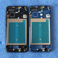 "Original Front Frame For 5.84"" Huawei Honor 10 Axisinternational Front Frame Middle Frame Bezel Housing With Power Side Buttons"