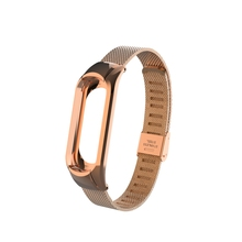 For Xiaomi Band MI 3 Watch Band Steel Milanese Folding Buckle Wrist Strap For