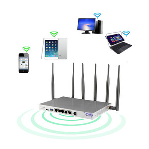 Image 2 - CAT6 router Gigabit dual band LTE 4G with SIM card slot openwrt 802.11ac 1200Mbps 5GHz wireless access point WiFi router