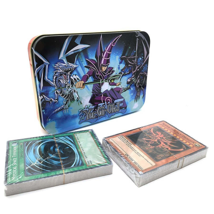 Yugioh Cards Egyptian God Collectible Toys For Boy Free Yu-gi-oh Metal Box Figures Japan Yu Gi Oh Legendary Board Game Cartas image