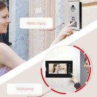 220 В видеодомофон домофон система дверной звонок ж/2 монитора умный дверной звонок для Квартиры Виллы ЕС штекер