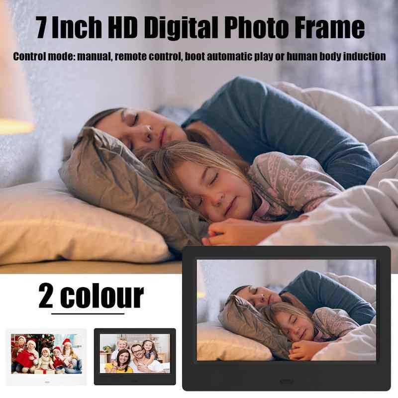 7 Inch HD Digital Photo Frame  Human Body Sensing LED Display Resolution 800*480 Electronic Photo Album Display Advertising