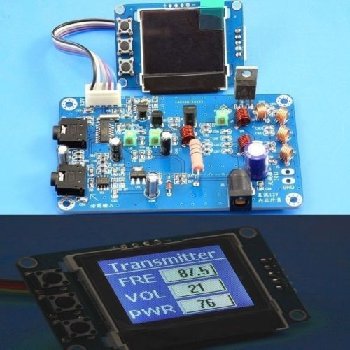 5W 7w FM Transmitter Radio Station PLL Stereo  Digital frequency KITS + lcd Digital Display