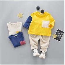 2019 Spring Autumn Baby Girls Boys Clothing Toddler Infant Clothes Suits T Shirt Pants 2Pcs/Sets Children Kids Casual Tracksuits недорого