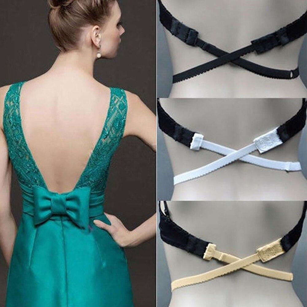3 Colors Sedensy Women's Adjustable Low Back Backless Bra Strap Adapter Converter Fully Adjustable Extender Hook