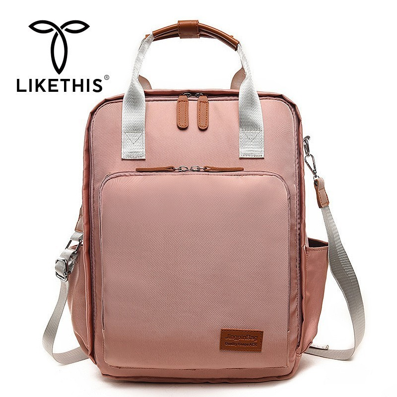 LIKETHIS Waterproof Mother Bag Multi layer Space Travel Tote Laptop Backpack Mochila Organizer Mom Diaper Bag Large Capacity New in Backpacks from Luggage Bags