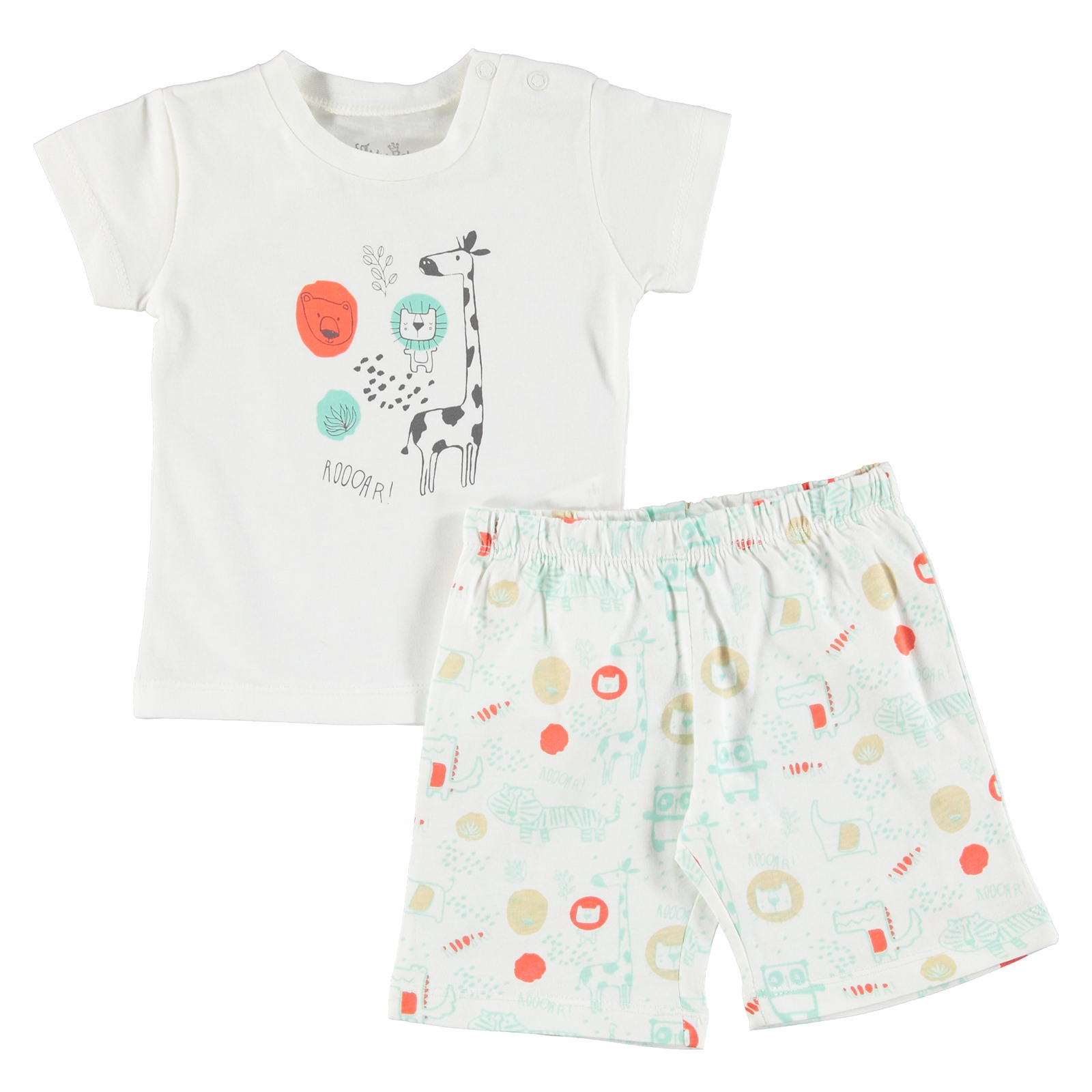 For My Baby Lion Printed Short Sleeve Pyjamas