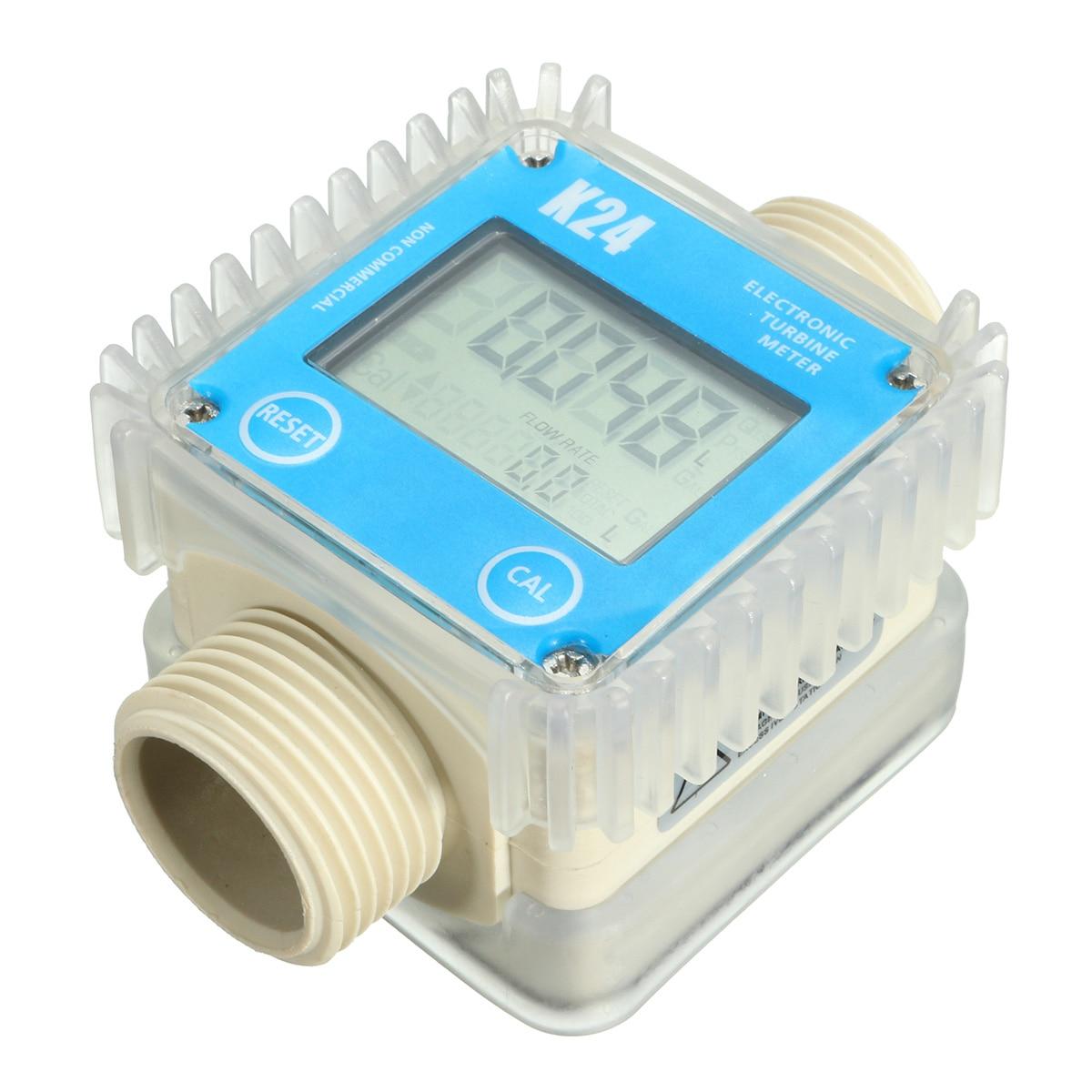 Misuratore di Flusso di carburante K24 1 -Turbina-Digital-Diesel-Calibro Contatore Per Le Sostanze Chimiche di Acqua 0.6MPa 10-120L /MinMisuratore di Flusso di carburante K24 1 -Turbina-Digital-Diesel-Calibro Contatore Per Le Sostanze Chimiche di Acqua 0.6MPa 10-120L /Min