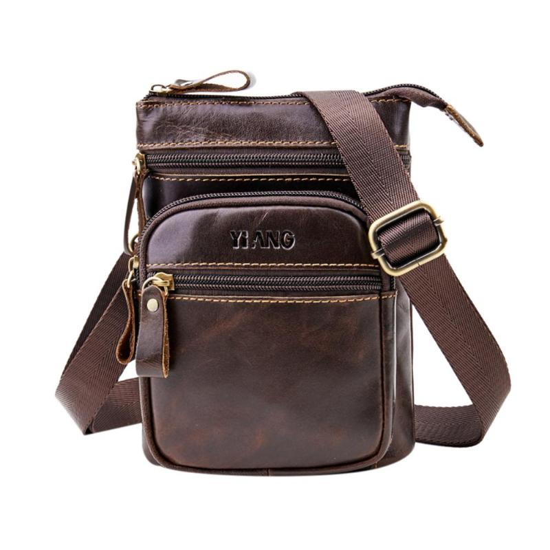 6in Male Phone Waist Bags Casual Shoulder Crossbody Bags for Men Solid Small Oil Wax Leather Vertical Fanny Belt Packs 2019 New6in Male Phone Waist Bags Casual Shoulder Crossbody Bags for Men Solid Small Oil Wax Leather Vertical Fanny Belt Packs 2019 New