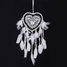 1Pc Dream Catcher Feather Handmade Dreamcatcher Light Innovative for Home Bedside Wall Hanging Decoration