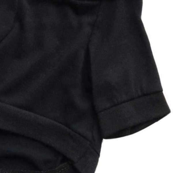 Pet комбинезон для щенков собак зимняя одежда платье рубашка одежда костюм верхняя одежда пальто (L, черный)