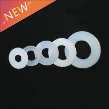 100 шт. Пластик нейлон изоляции плоская шайба DIN125 ISO7089 M3 M4 M6 M8 покрытием плоский разделитель уплотнительная прокладка кольцо NL03
