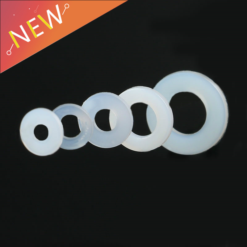 100Pcs Plastic Nylon Insulation Flat <font><b>Washer</b></font> DIN125 ISO7089 M3 M4 M6 <font><b>M8</b></font> <font><b>Washer</b></font> Plated Flat Spacer Seals <font><b>Washer</b></font> Gasket Ring NL03 image