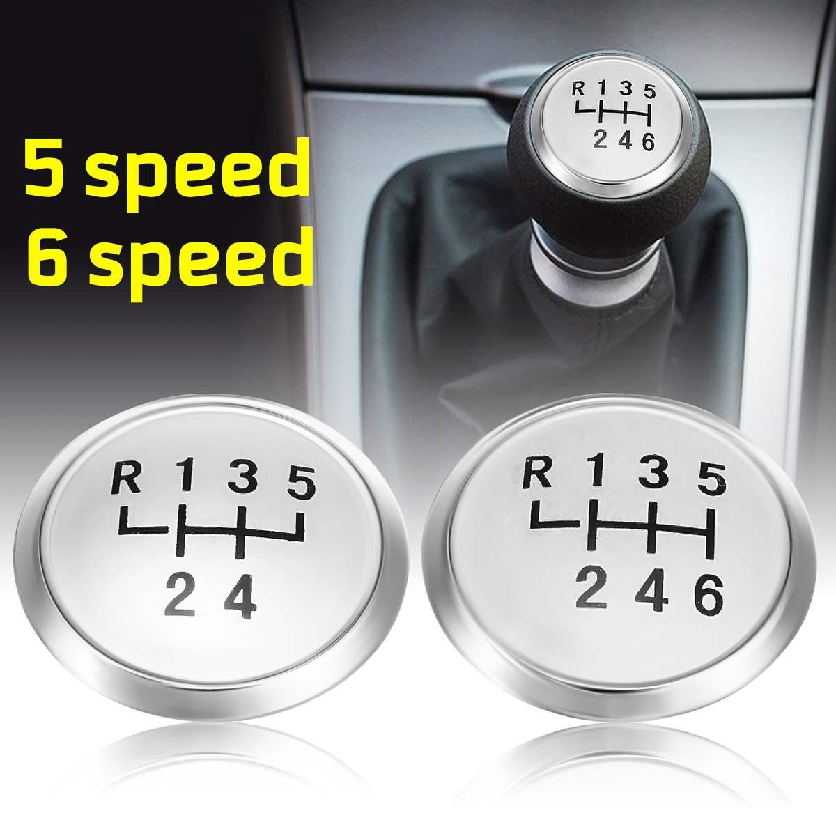 Chrome Gear 5 Speed Round Shift Knob Cap for VW Volkswagen Transporter T5