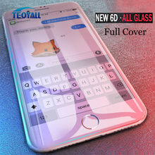 TeoYall pełna 6D Edge hartowane szkło dla iPhone X XS 7 8 6 6s Plus Screen Protector na iPhone 7 8 6 10 XS MAX XR szkło ochronne tanie tanio Telefon komórkowy iPhone XS iPhone 6 Plus iPhone XS MAX iPhone X iPhone 7 iPhone XR iPhone 6s iPhone 8 iPhone 7 Plus iPhone 6s Plus iPhone 6 iPhone 8 plus