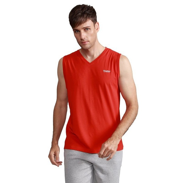 Brand Clothing Mens Sleeveless Vest Summer Cotton Tops Wide Strap Elasticity Fitness V Neck Tanks Male