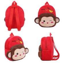 PUDCOCO Baby Kids Cartoon Plush Backpack Schoolbag Shoulder Rucksack Toddler Bags Mini