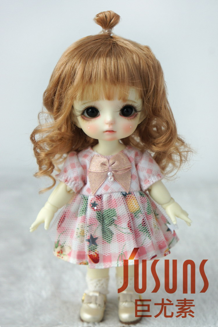 JD375 1/8 Lovely Up Style Wave Synthetic Mohair BJD Doll Wigs 5-6 - Қуыршақтар мен керек-жарақтар - фото 2