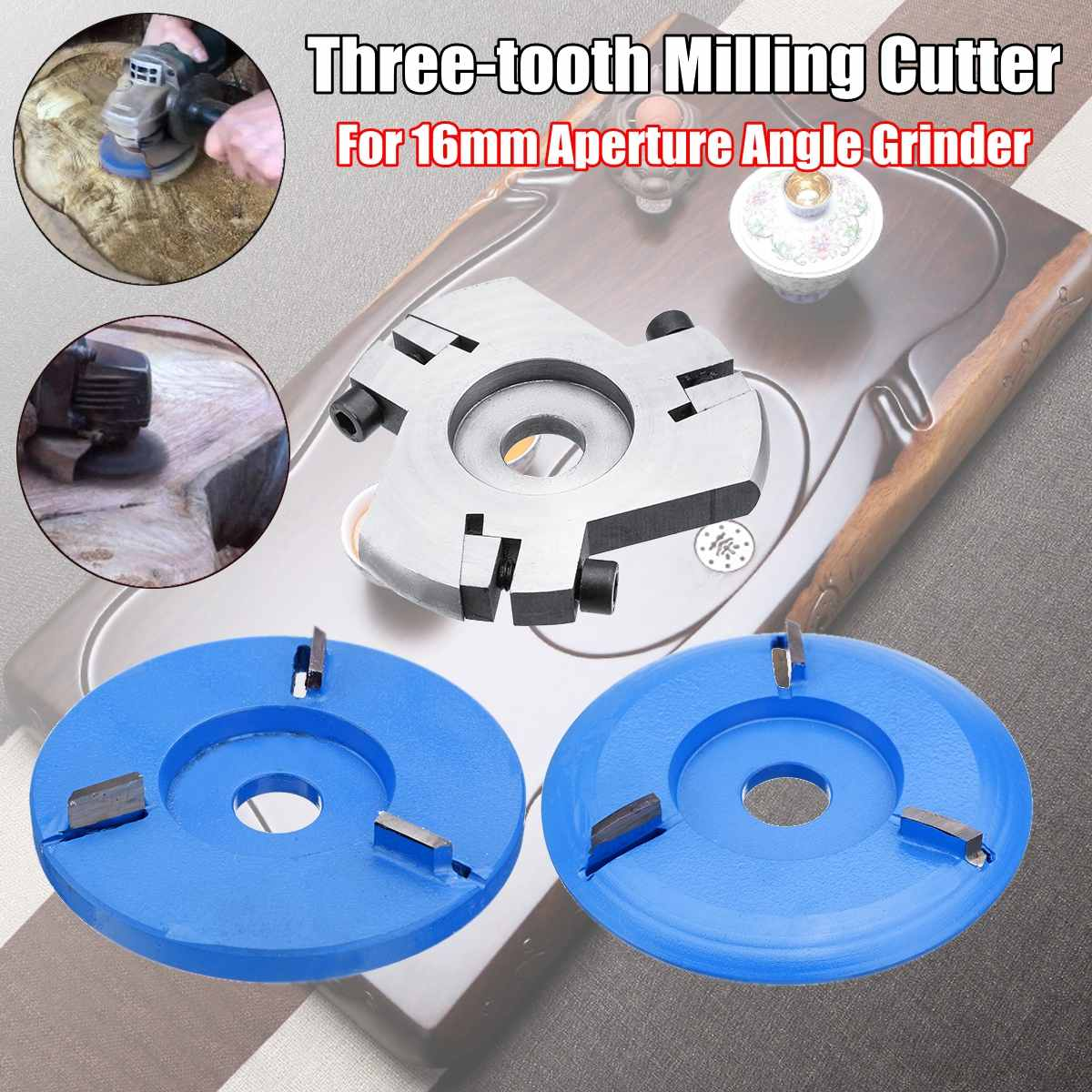 Woodworking  Turbo Plane Wood Carving Blade For 100mm 115mm DISC 4 1/2