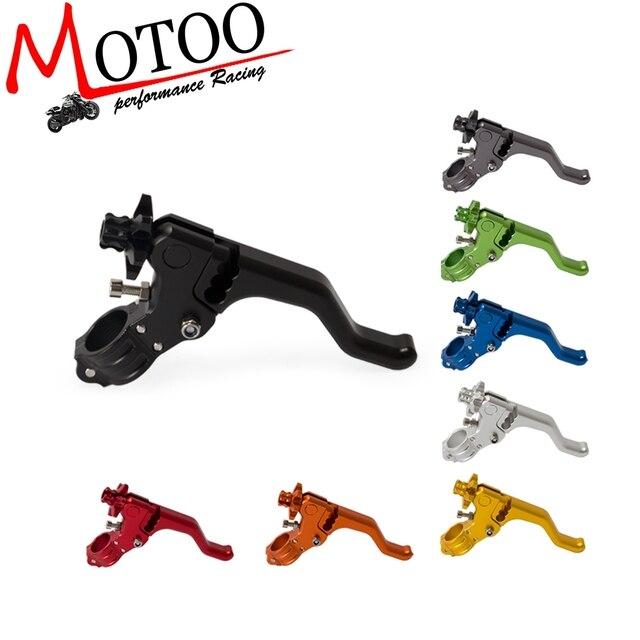 Motocicleta Dublê 22mm Curto Alavanca Da Embreagem Desempenho do Cabo Fácil Puxar Para a Esquerda Alavanca Para SUZUKI Honda Grom RM125 DMZ250 YAMAHA YZ250