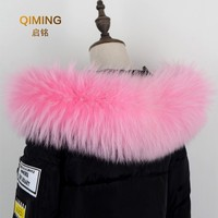 Winter raccoon fur collar scarf for park with fur Wo for men shawl stoles Luxury For men neck warm fur scarves for coat L49