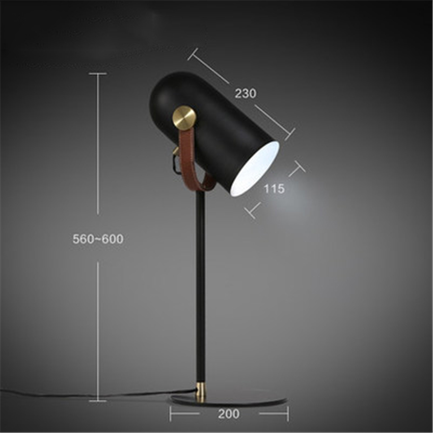 Nordic Modern LED Iron Black Desktop Lights Table Lamp Bedroom Living Room Bedside Lighting Learning Table Lamp Lights Luminaria in LED Table Lamps from Lights Lighting