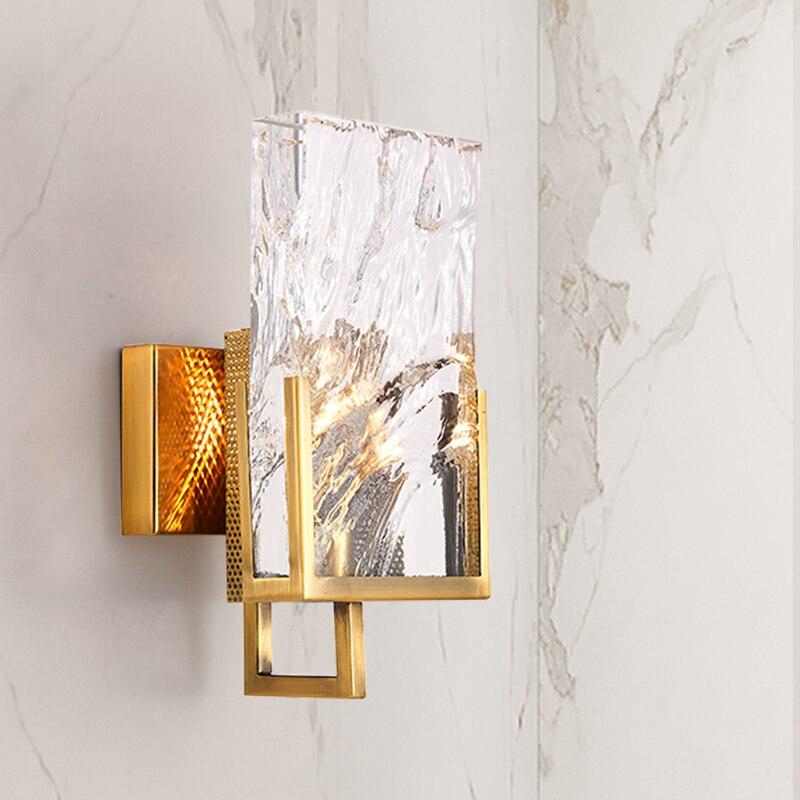 Moderne LED Glas Kristall Wandleuchte Lampe Sconce Licht Schlafzimmer Nachtlicht
