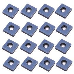 Pacote de Screwhole 16 fácil de Se Mover Em Silêncio Engrossar Protetores de Piso Pad Pés Tampa Inferior Da Perna para Móveis Cadeira Mesa