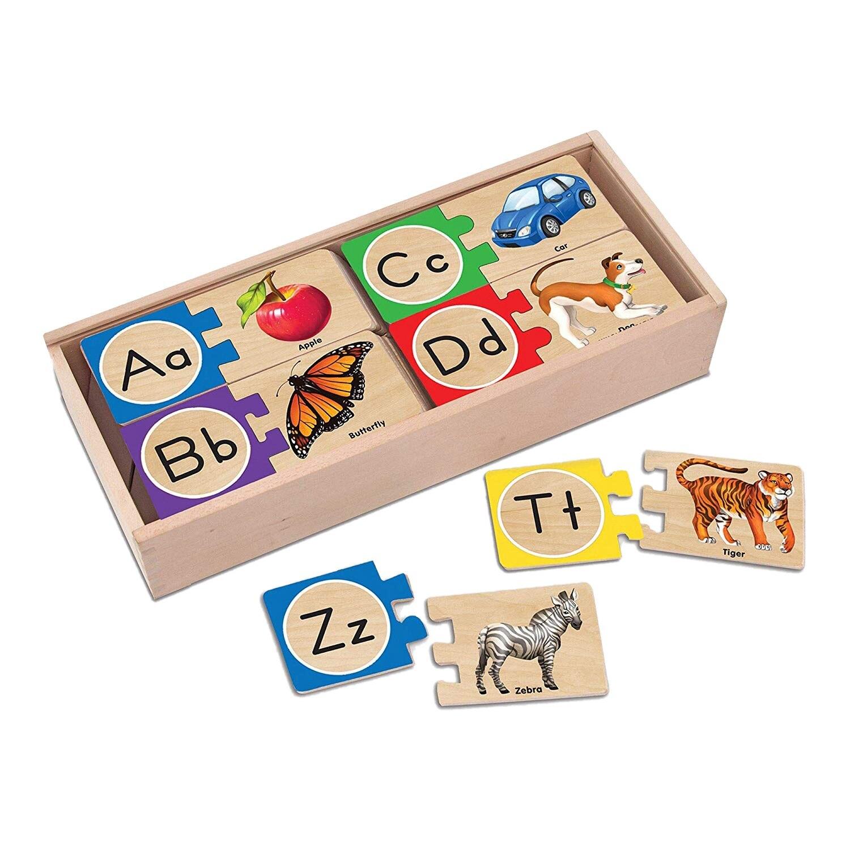 52 Piezas Niños Emparejamiento Rompecabezas De Madera Juguetes De Children's Educación Cartas Cognitivo Juego Puzzle B
