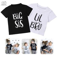 2019 Emmababy Cute Baby Boy Girls Kids Summer T-shirt Big Sister/Litttle Brother Matching Outfit 0-6Y(China)