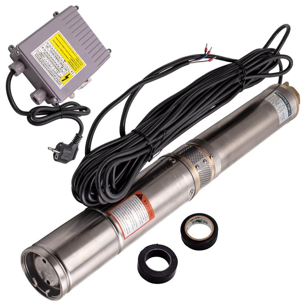 Погружной водяной насос для бурения скважин 4 дюйма 370 Вт + кабель 20 м, макс. головка 45 м
