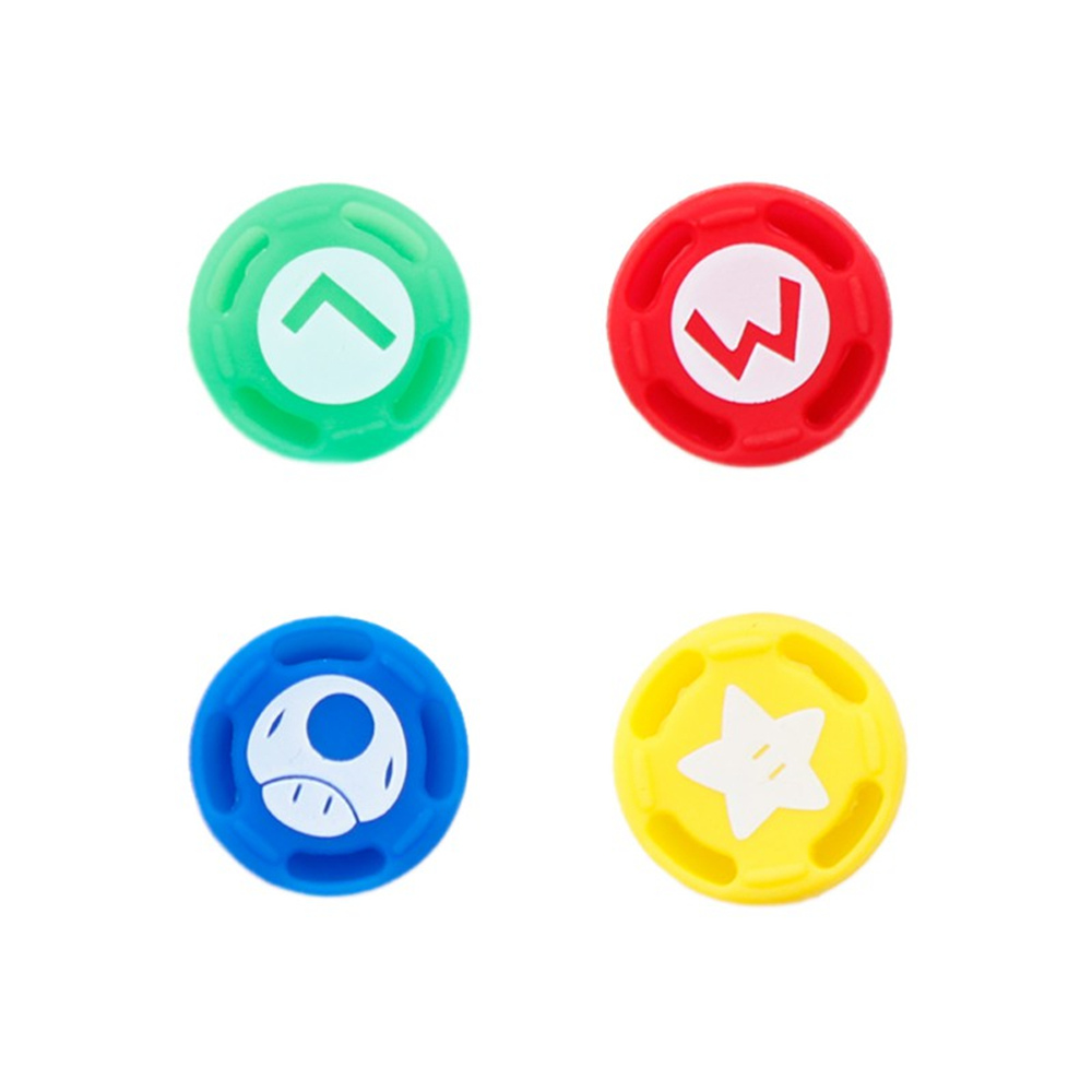 4 Pcs Silicone Analog Thumb Stick Caps For Nintend Switch NS PRO Controller Sticks Cap Skin Cover Joystick Grips