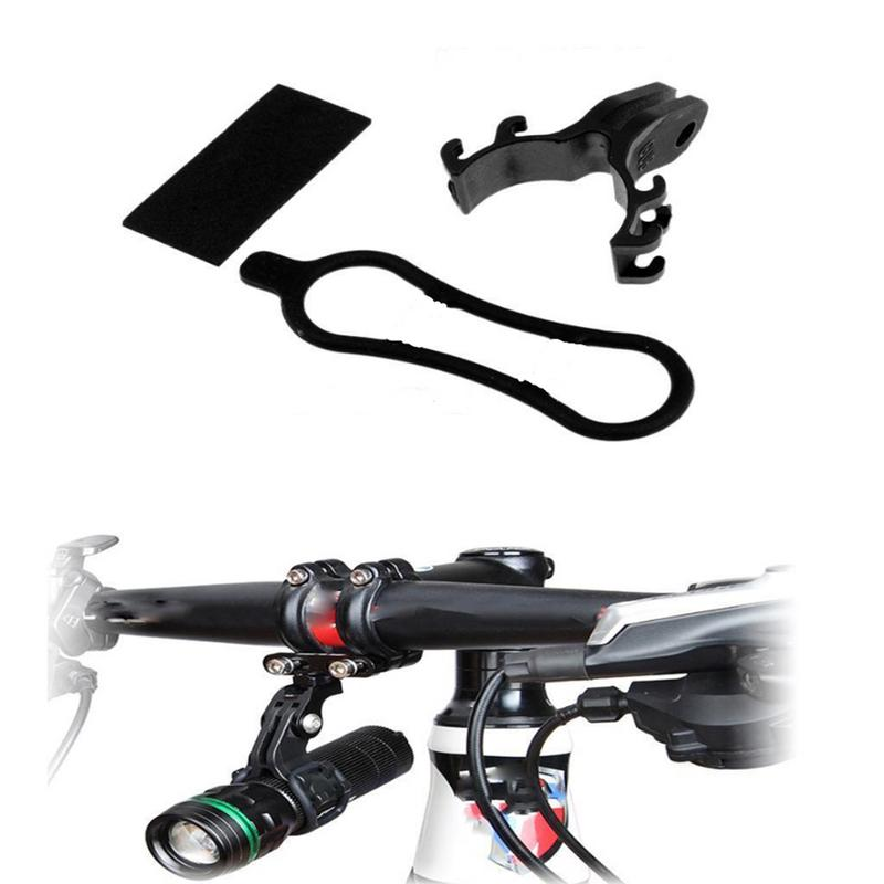 Bicycle Light Torch Flashlight Holder Clip Mount Bracket Light Game Number Card Clip MTB Road Bike Accessories For Gopro Mount