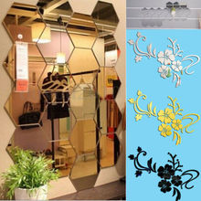 Mirror Decal Art Mural Wall Stickers Home Room DIY Decor Decoration Removable Sofa TV Background Home Wall Decor цена